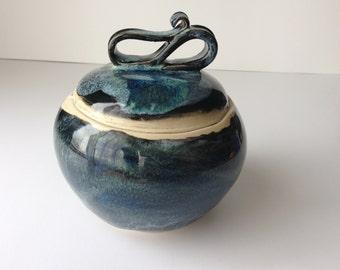 Decorative Surprise Jar - Black and Blue Nebula