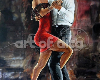 Tango dance - #ArtPrint