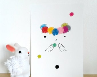 Print , Kitty POM POM, Kitty print