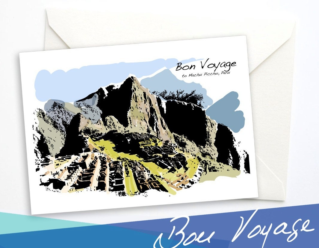 machu picchu voyage carte de voeux carte de voeux bon voyage. Black Bedroom Furniture Sets. Home Design Ideas