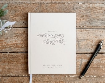 Wedding Planner Book Wedding Journal Personalized custom wedding book bridal shower guest book rustic wedding keepsake gift for bride cream