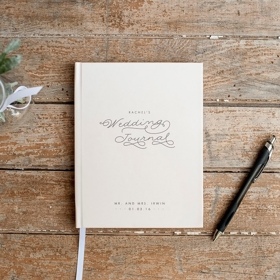 Wedding Planning Gift Set : Ideas Wedding Planner Gift wedding journal notebook planner by ...