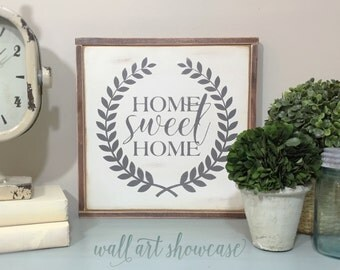 Home Sweet Home Hand Painted Wood Sign - Wood sign - Home Decor Sign - Distressed Rustic Antiqued sign Decor - Wall Decor - Room Decor