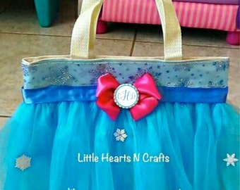 Snowflake purse, Princess Sister Tutu Purse Canvas Tote Bag