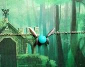 GOING OUT of BUSINESS--50% off Legend of Zelda Navi-inspired mini fairy bracelet