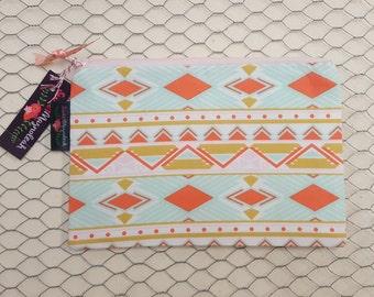 Zipper pouch, Zipper bag, Pencil bag, Makeup pouch, Aztec