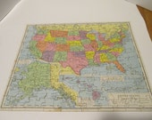 MAP OF British Isles, Jig-Saw Puzzle Vintage 1970's Plywood Victory Brand,  Colorful Quality Made in England, Complete w/Box in Great Shape!