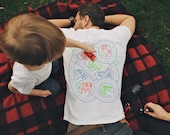 S, Play Mat T-shirt, Car Track Shirt, Gift for Dad, Road Map Shirt, Roads on Back, Matching Shirts, New Dad Shirt Dad and Son Gift From Kids