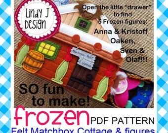 Fairy Tale MATCHBOX Cottage #6 FROZEN Felt Playset .PDF Pattern