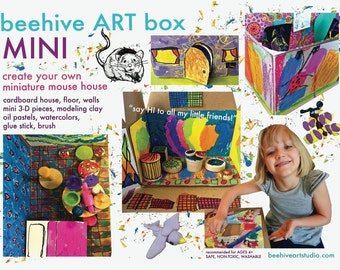 ART KIT for kids -- mini mouse art house