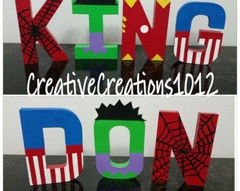 Marvel Heroes Inspired Letters