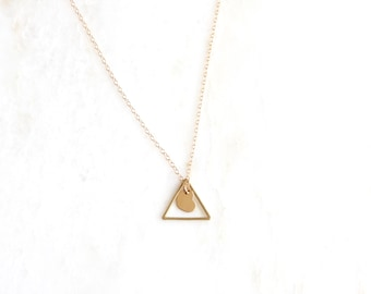 TOGETHER adoption necklace. triangle necklace. mother's day. baby shower. 1 samuel 1:27 for this child I have prayed