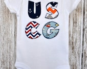 Coast Guard Baby, Coast Guard Appliqué, Coast Guard Bodysuit, Coast Guard Shirt, Coastie Appliqué, US Coast Guard Kids Shirt, USCG Baby Gift
