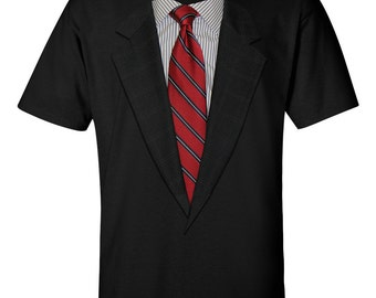 Suit Up! Realistic Suit and Tie T-shirts. 4 Tie Colors & Available in Long Sleeve!