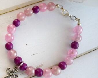 Silver Cross Charm Bracelet as Christian Jewelry For Women