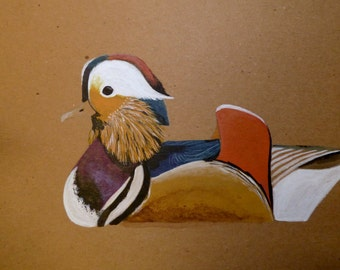 Mandarin Duck Painting