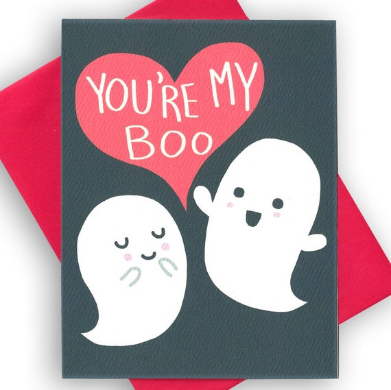Cute Toddler Valentines Day Quotes: You're My Boo Funny I Love You Card Funny Love By TurtlesSoup