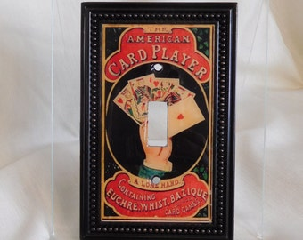 Light Switch Cover, Game Room Light Switch Cover, Man Cave Light Switch Cover, Card Player Light Switch, Playing Cards Light Switch Plate