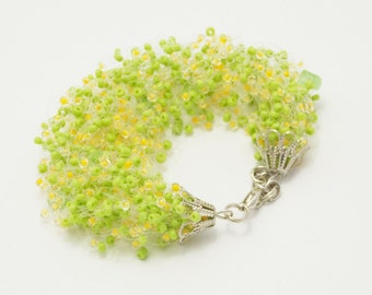 Green gift/for/her gift/for/daughter jewelry lime green jewelry patrick jewelry resort wear clasp bracelet moss bracelet botanical bracelet