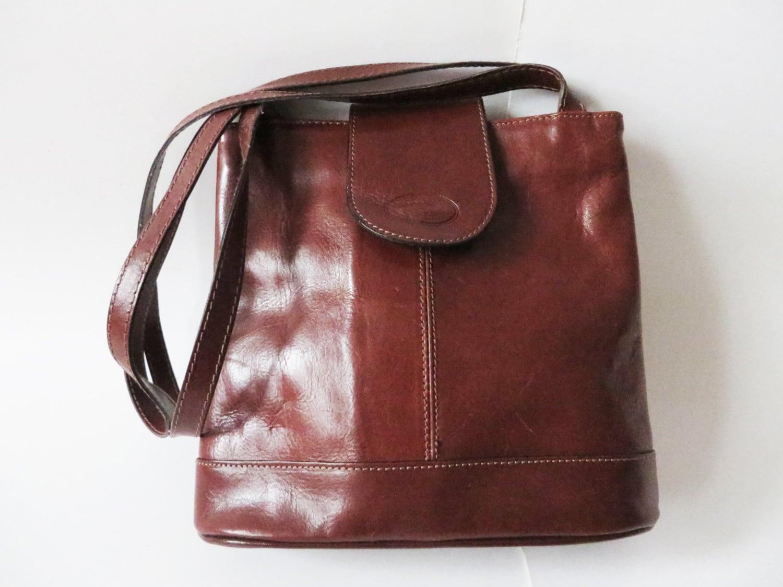 Leather Tote Bag Cognac Brown Bag Chestnut Handbag Brown