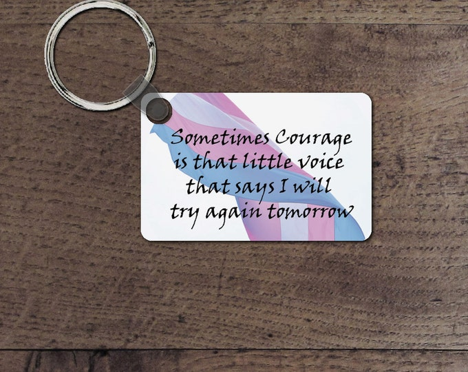 Transgender Courage key chain