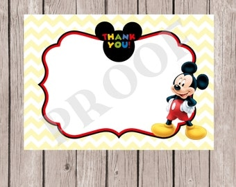 Mickey Mouse Thank You Note