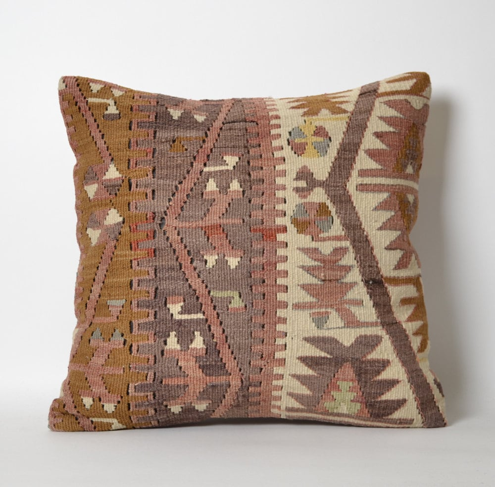 Old Kilim Pillow Cover Decorative Sofa Pillows Turkish Kilim