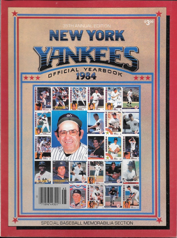Ny Yankees 1984 Official Yearbook And Insert Magazine