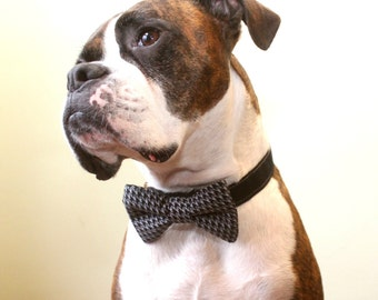 Houndstooth Doggie Bow Tie