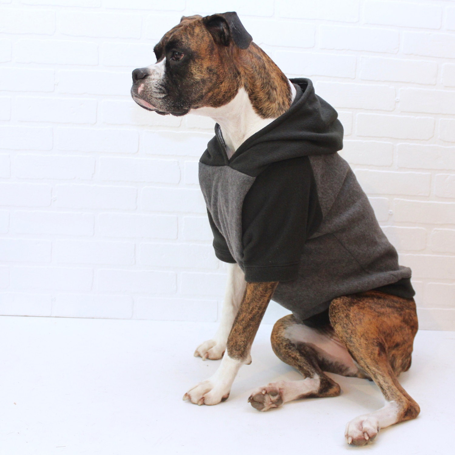 Dog Hoodie Large Dog Sweater Clothing For Girl Boy In Black