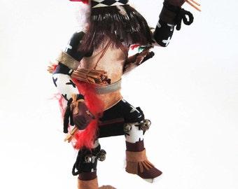 Kachina Doll, Hopi NIGHT GUARD, Signed by Komayosi Hopi Indian, from Hotevilla, AZ, c. 1980s Kachina, Native American Art, Indigenous Art