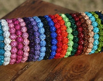 Shamballa Beaded Bracelet - Many Colors