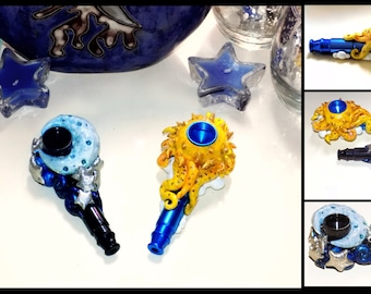 Sun and Moon Pipes (made to order duplicate)