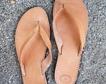 FLIP FLOP CLASSIC Greek Leather Sandals, Thong Sandals, Barefoot Sandals, Beachwear Sandals in the best price