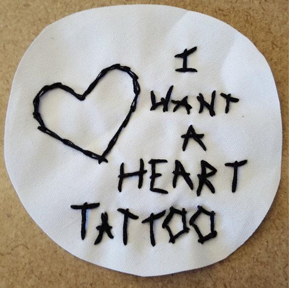 joyce manor heart tattoo sew on patch