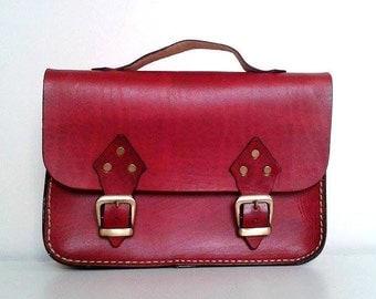 Red Leather Bag,Messenger Bag ,Tote Bag ,ipad Bag ,for women ,under 100 ,leather ipad bag ,red ipad bag ,red ipad case ,red messenger bag