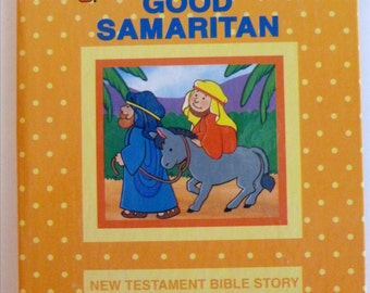 Vintage Children's Books, The Good Samaritan, 1995 Hardcover Book, Faith, Gift for Kids, Christianty, New Testament Story,  Made in USA