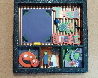 Trick or Treat Halloween Shadow Box