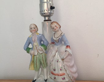 1940's Occupied Japan Porcelain Victorian Lamp