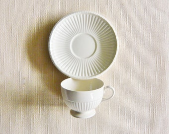 Wedgwood of Etruria Creamware Edme Pattern  Earthenware Cup and Saucer