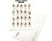 Single Ladies Postcard, Typography Song Lyrics Art, Dance Tutorial Illustration, Music Art Print, Pop Culture Card, Fan Art Song Postcard