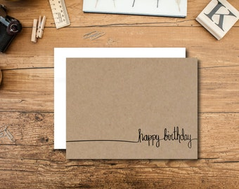 Birthday Card Set - Happy Birthday Card Set