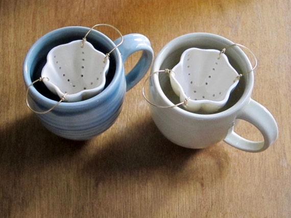 Tea Strainer Porcelain Amp Brass Ceramic Strainer By