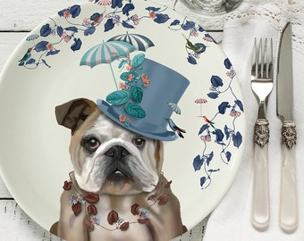 Bone china plate English Bulldog Milliners Dog English Bulldog gift English Bulldog plate dog plate decorative plate dog gift for dog lover