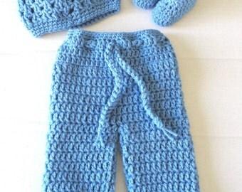 Crochet Baby Boy's Pant Set