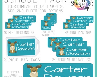 172 Label School Pack,  Kid's Name Label Stickers  - Waterproof, Dishwasher Safe for School, Daycare, Camp, Clothing, Cups & More