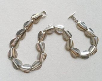 Vintage Silver Necklace / Collier, Denmark, 1960s (F447)