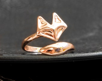 Fox ring rose gold