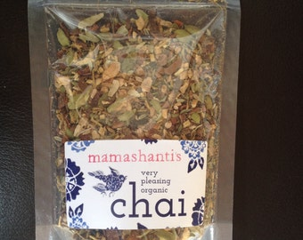 mamashanti's original very pleasing organic chai refill bag
