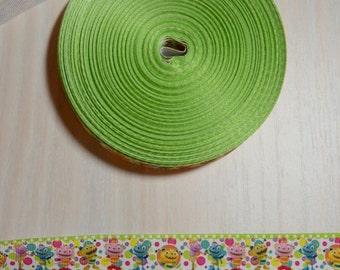 1 inch Grosgrain Ribbon - Henry Hugglemonster